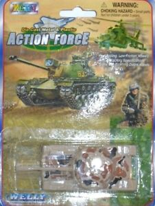 MINI-MODELLINI-MILITARI-Die-Cast-Metal-amp-Plastic-Action-Force-Carro-armato