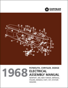 1968 Fury Polara Monaco Electrical Assembly Manual Wiring Dodge Plymouth Vip Ebay