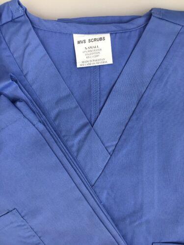 MVS Unisex Men//Women Scrubs Uniform Medical Hospital Scrub Set Top /& Pants XS
