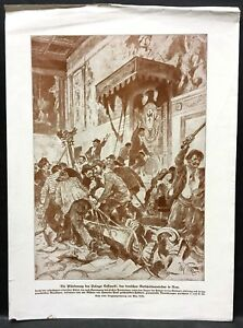 Italy-ROM-Plunder-the-German-Message-Military-WK1-Art-Print-W-4194
