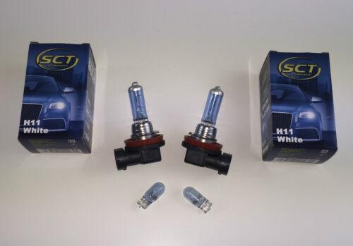 2 x SCT GERMANY H11 LAMPE blau weiß 2 x W5W blau-weiß 12V 55W 5W XENON LOOK