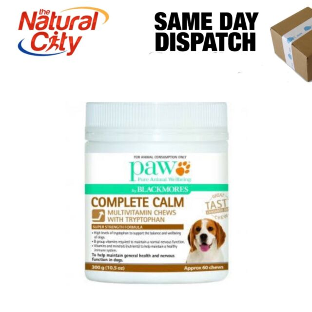 PAW Complete Calm Multi Tryptophan Multi Vitamin 60Chews 300g Dog Pet Blackmores
