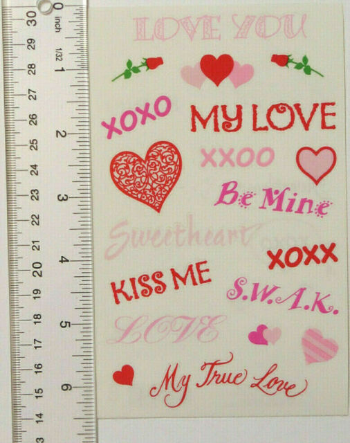 Mrs Grossmans stickers LOVE HEARTS 6.5 inch sheet