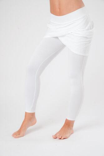 Yoga Wear Women/'s White Cotton Kundalini Yoga Leggings Kundalini Clothing