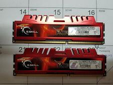 TWO STICKS RIPJAWS G.SKILL MEMMORY F3-12800CL9D-4GBXL 2GBX2 DDR3-1600 PC3-12800