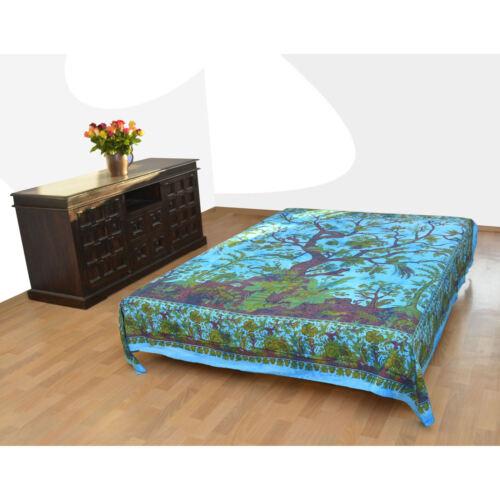 Día-Manta tree of life Árbol de la vida tapicería cama-atornillamiento decorativas-pañuelo yoga Goa
