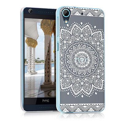 kwmobile Schutz Hülle für Htc Desire 626G Blumen Weiß Transparent Crystal Case