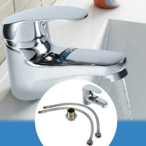 Bathroom-Sink-Basin-Faucet-Chrome-Finish-Waterfall-Spout-Single-Handle-Mixer-Tap