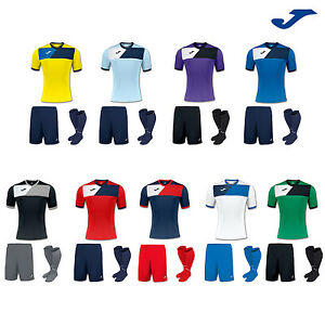JOMA CREW 2 FOOTBALL TEAM KIT STRIP SHIRT, SHORTS, SOCKS ...