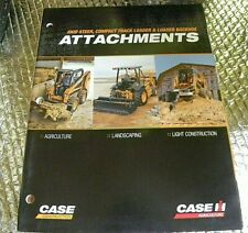 Factory Oem Dealership Brochure 2009 Case Attachments Skid Steer Compact Loaders