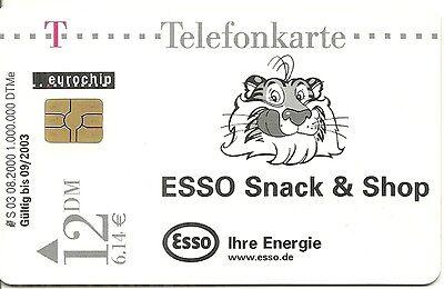 // PHONECARD TELEFONKARTE TIGRE : TIGER RARE // CARTE TELEPHONIQUE PUB ESSO