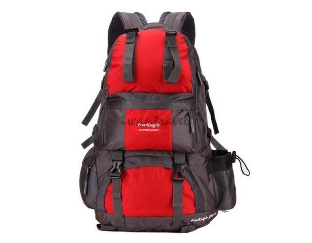 50L CAMPING HIKING MOUNTAIN TRAVEL BACKPACK SPORTS RUCKSACK WATERPROOF BAG RED