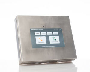 AISI316-Stainless-Steel-Tablet-Enclosure-For-10-034-Lenovo-Tab-3-with-USB-Speaker
