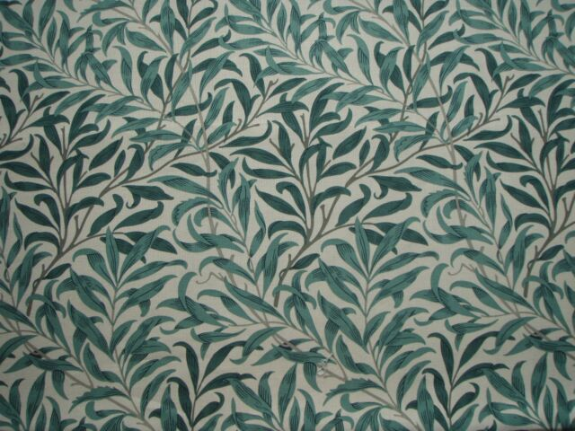William Morris Curtain Fabric Willow Bough S Major 2 1 Metres Taupe Green