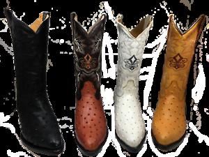 Para Hombre botas De Vaquero Cuero Estampado de Avestruz Oeste Rodeo botas 100% Piel Impresa