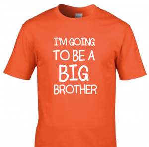 I'm Going To Be A Big Brother Kids T-Shirt Pregnancy Announcement Tee Top