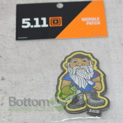 5.11 Tactical 81255-999 Hook-Back Adhesion EMT Gnome Morale Patch Multi-Color