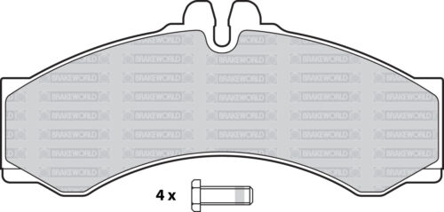 OEM SPEC FRONT AND REAR PADS FOR MERCEDES-BENZ SPRINTER 316D 2.7 TD 2000-06