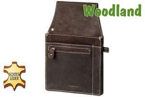 Woodland Kellnertasche Kellnerbörsen-Holster aus Büffelleder dunkelbraun