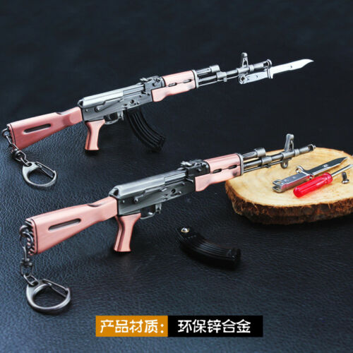 PUBG 1//6 AK47 Battlegrounds BattleField4 AKM  Assault Rifle Assemble metal 20cm