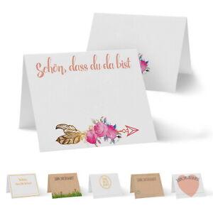 50 Tischkarten Platzkarten Hochzeit Kommunion Geburtstag Taufe Namenskarten