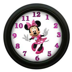 Details about Minnie Mouse Clock Kids Room Decor Bedroom Decor Animation  Disney