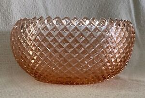 Vintage-Anchor-Hocking-Miss-America-Pink-Depression-Cupped-Deep-Bowl-8-034-Wide