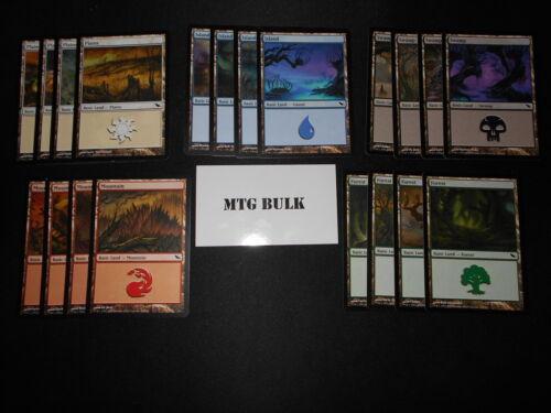 20 Basic Land Lot Magic MTG FTG SP//NM 1x of each art SHADOWMOOR