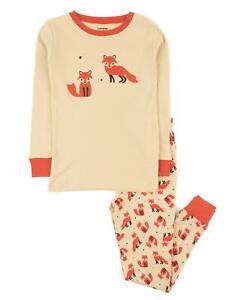 Size 2T - 8 GLASH Kids Girls Pajamas 4-Piece Pjs 100/% Cotton Sleepwear Toddler Kids