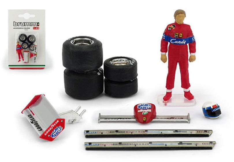 BRUMM ch02t2 Accessoire & figurine set-Didier pironi Ferrari 126C2 1982 1 43