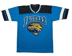 Jacksonville-Jaguars-NFL-Mens-Short-Sleeve-V-Neck-Jersey-Blue-Black
