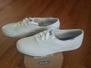 94294304675 Image is loading Brand-New-Keds-Champion-White-Leather-Shoe