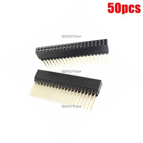 50Pcs Pitch 2X20 Pin 40 Pin Buchsenleiste PC104 Pin Header Zweireihig Lang tn