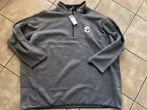 NWT-Antigua-Golf-5XL-Pittsburgh-Steelers-LS-Front-Zip-Pullover
