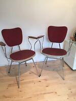 Frisørstole, Vintage frisør stole. Rødt nappa.