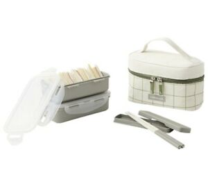 Lock /& Lock 2 Layers Lunch Box Set Food container with Bag and Chopsticks set