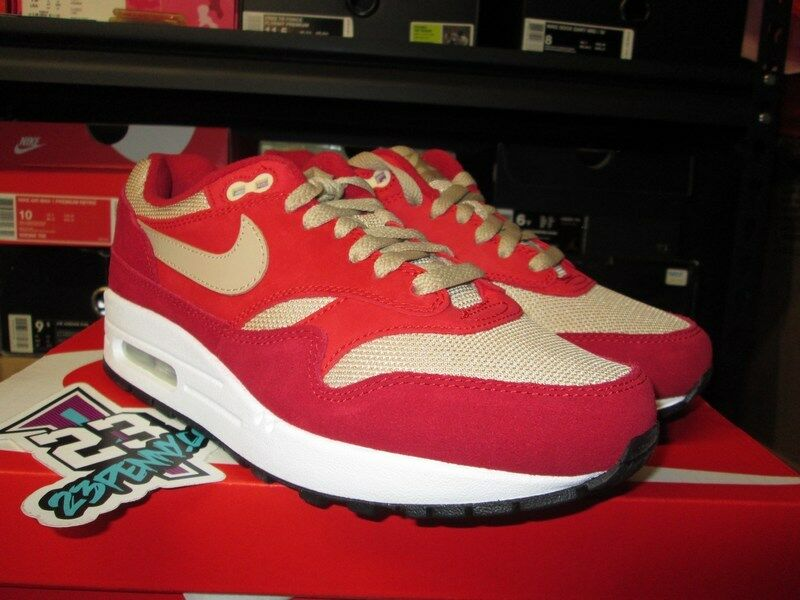 SALE NIKE AIR MAX 1 PREMIUM RED CURRY TOUGH RED MUSHROOM 908366 600 Price reduction  Wild casual shoes