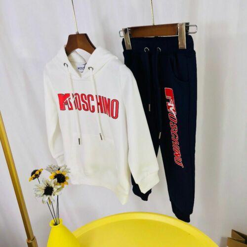 Pants 2020 New 1 Set Fashion Kids Boy Girls Classic M Logo Sweatershirt Hoodie
