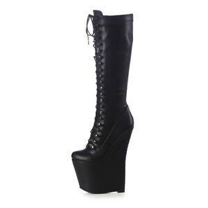 Giaro MISTERY wedge lace up boots