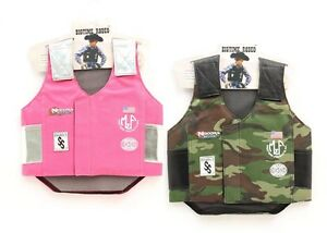 Kid-039-s-RODEO-VEST-Mutton-Bustin-Buster-PINK-CAMO-Bullrider-Costume