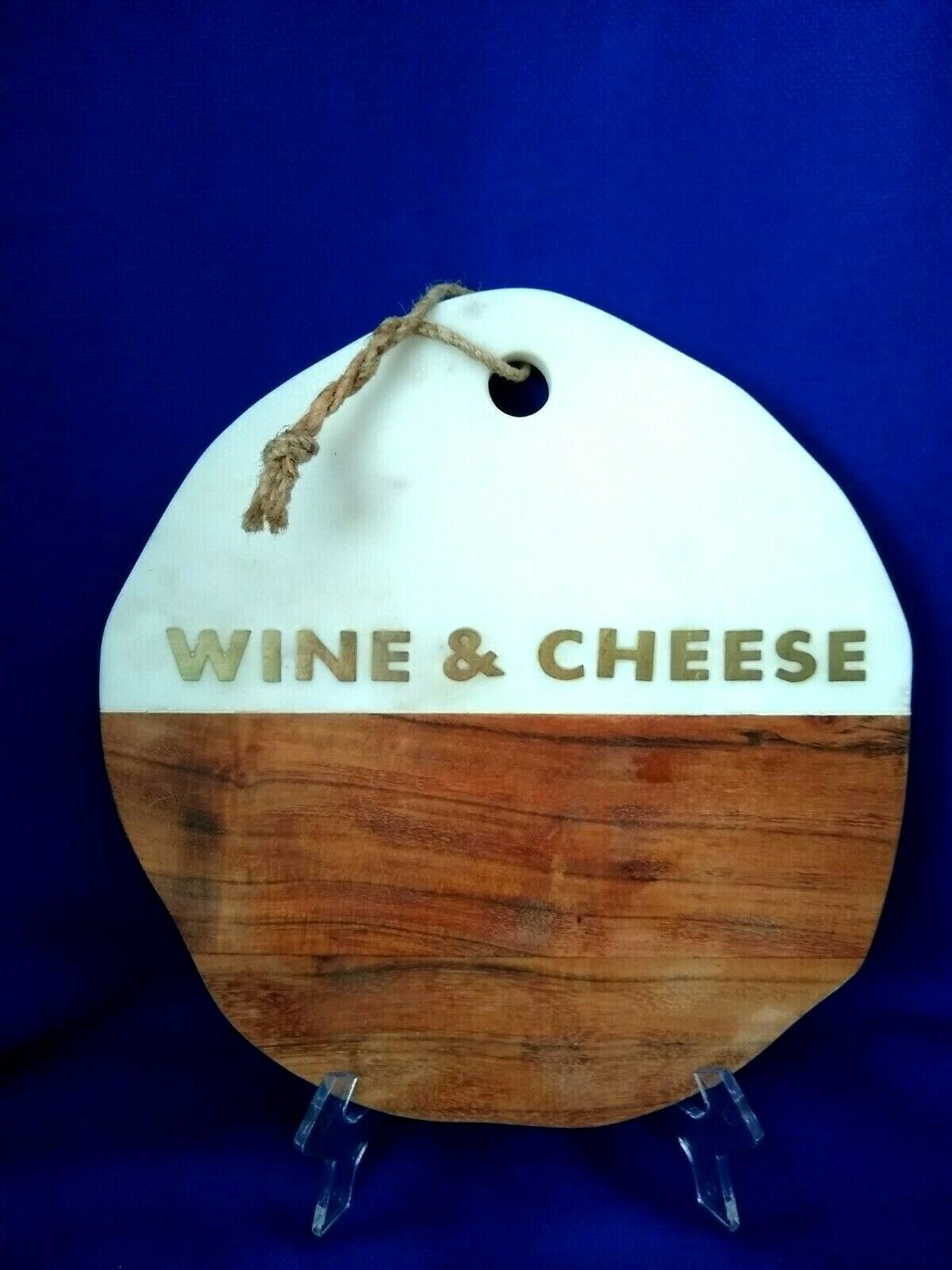 Marble And Brass Inlay Cheese Cutting Board By World Market For Sale Online Ebay