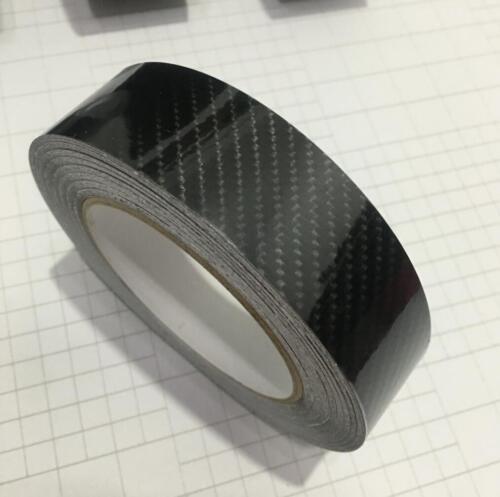 6D Glossy Carbon Fiber Black Vinyl Tape Adhesive Auto Wrap Sticker DIY Decal
