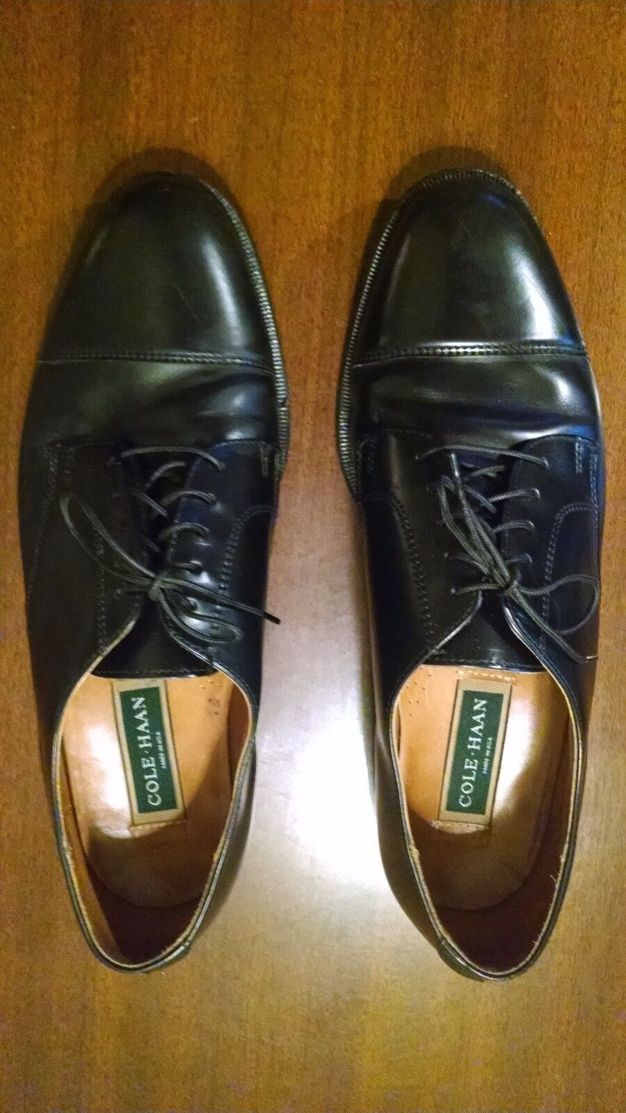 Cole Haan 8000 Mens Leather Dress Shoes 8000 Haan Black Derby Oxford type fad1d9