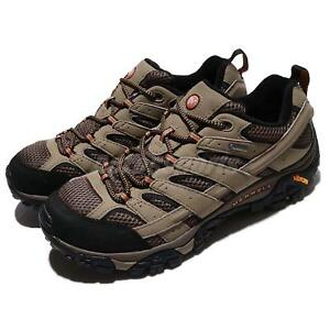 Merrell Moab 2 GTX Gore-Tex Vibram Khaki Brown Mens Hiking Shoes ... c8bef99433