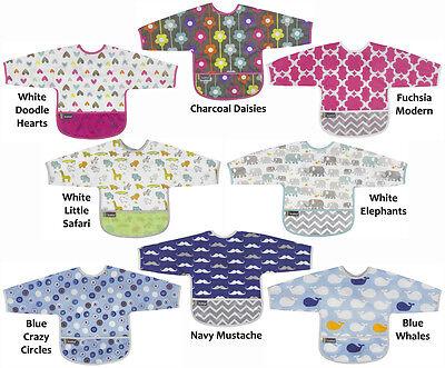 Kushies Cleanbib Infant or Toddler Waterproof Clean Bib with Pocket K281