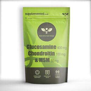 GLUCOSAMINA-CONDROITINA-MSM-400-100-50-Pastillas-FABRICADO-EN-GB-Buzon