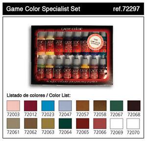 Vallejo VLJ-72297 Vallejo Game Color Specialist Set 16 Colors