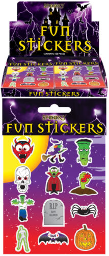 60 Packs Halloween Spooky Stickers Trick or Treat Party Bag Fillers