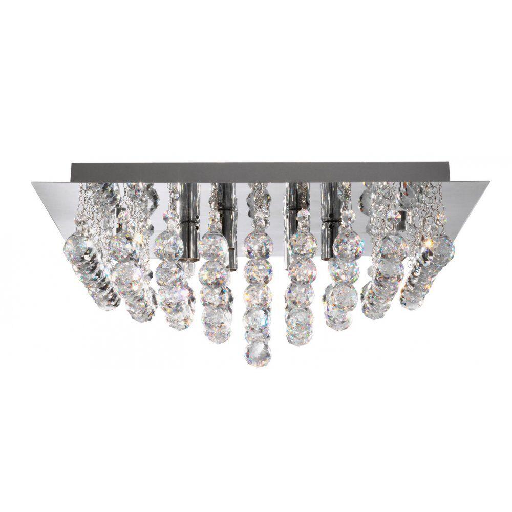 Projecteur Éclairage 6406-6CC Luminaire Hanna Carré Encastré Chrome 6 Luminaire 6406-6CC ed5f31