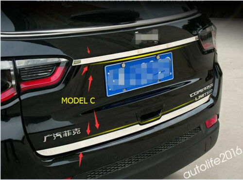 Rear Trunk Tailgate Strip Lid Cover Trim For Jeep Compass 2017-2020 Accessories